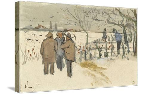 Miners in the Snow-Vincent van Gogh-Stretched Canvas Print