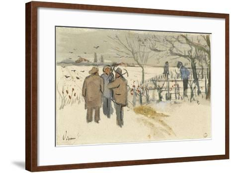 Miners in the Snow-Vincent van Gogh-Framed Art Print