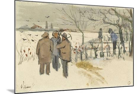 Miners in the Snow-Vincent van Gogh-Mounted Giclee Print