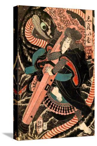 Jiraiya-Yoshitsuya Utagawa-Stretched Canvas Print