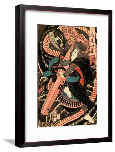 Jiraiya-Yoshitsuya Utagawa-Framed Art Print