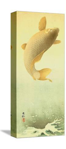 Leaping Carp-Koson Ohara-Stretched Canvas Print