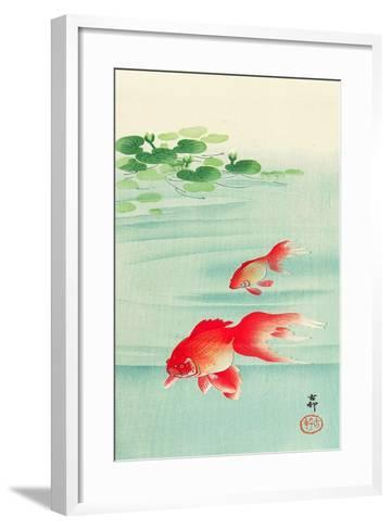 Two Goldfish-Koson Ohara-Framed Art Print