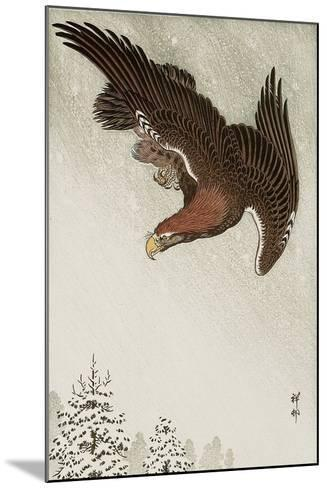 Eagle in Flight Against Snowy Sky-Koson Ohara-Mounted Giclee Print