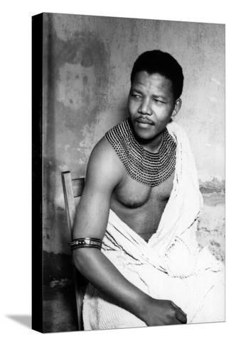 Nelson Mandela--Stretched Canvas Print