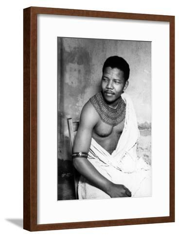 Nelson Mandela--Framed Art Print