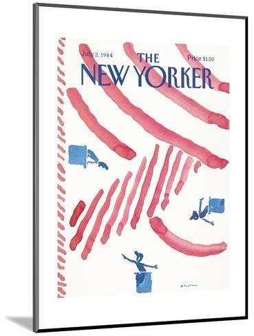 The New Yorker Cover - July 2, 1984-R.O. Blechman-Mounted Premium Giclee Print