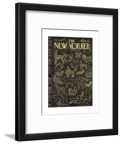 The New Yorker Cover - February 12, 1966-Anatol Kovarsky-Framed Art Print