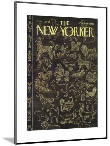The New Yorker Cover - February 12, 1966-Anatol Kovarsky-Mounted Premium Giclee Print