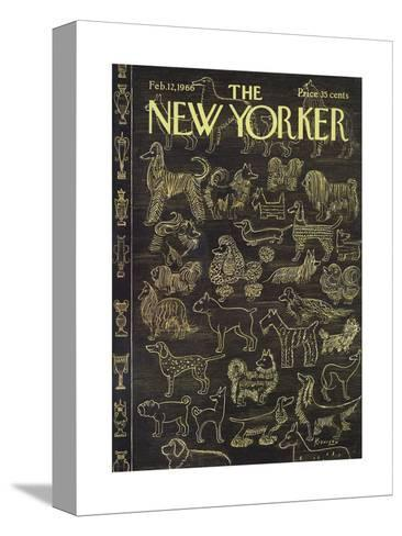 The New Yorker Cover - February 12, 1966-Anatol Kovarsky-Stretched Canvas Print