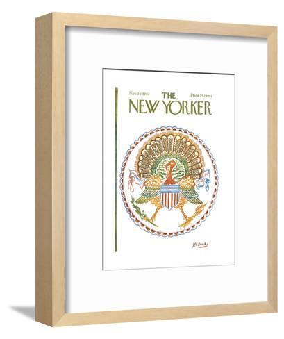 The New Yorker Cover - November 24, 1962-Anatol Kovarsky-Framed Art Print