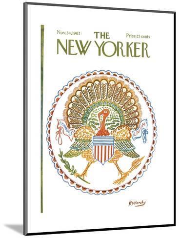 The New Yorker Cover - November 24, 1962-Anatol Kovarsky-Mounted Premium Giclee Print
