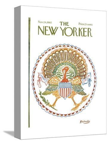The New Yorker Cover - November 24, 1962-Anatol Kovarsky-Stretched Canvas Print