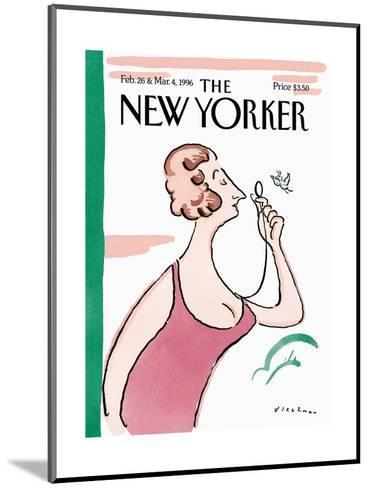 The New Yorker Cover - February 26, 1996-R.O. Blechman-Mounted Premium Giclee Print