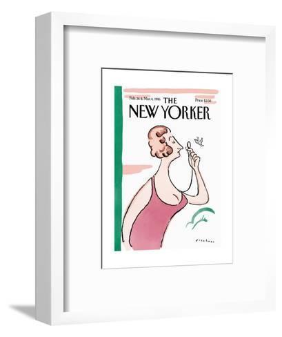 The New Yorker Cover - February 26, 1996-R.O. Blechman-Framed Art Print