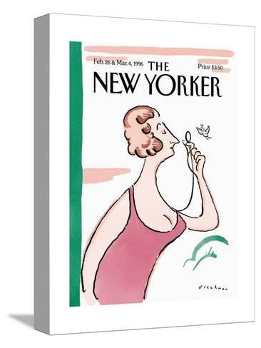 The New Yorker Cover - February 26, 1996-R.O. Blechman-Stretched Canvas Print