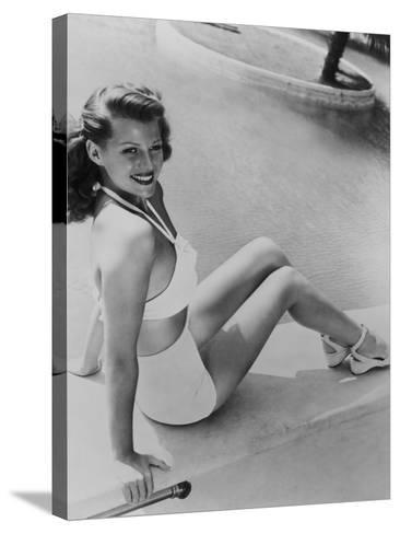 Rita Hayworth, 1945--Stretched Canvas Print