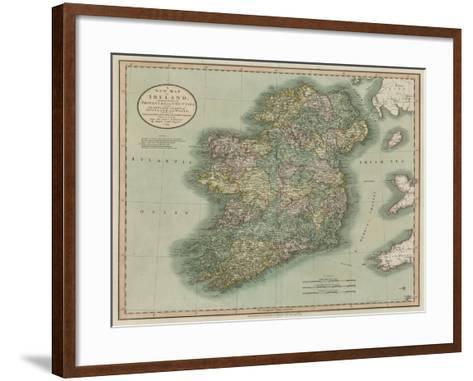Vintage Map of Ireland-John Cary-Framed Art Print