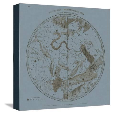 Southern Circumpolar Map-W^G^ Evans-Stretched Canvas Print
