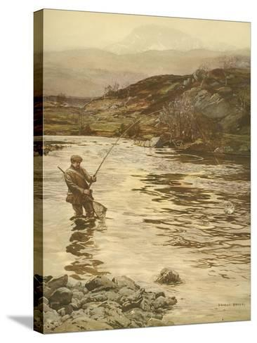 Trout Fishing--Stretched Canvas Print