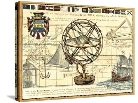 Nautical Map I-Deborah Bookman-Stretched Canvas Print