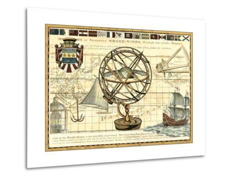 Nautical Map I-Deborah Bookman-Metal Print