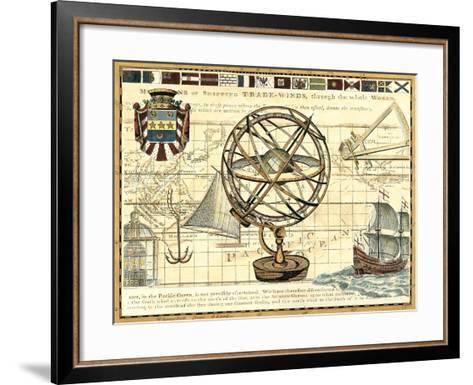 Nautical Map I-Deborah Bookman-Framed Art Print