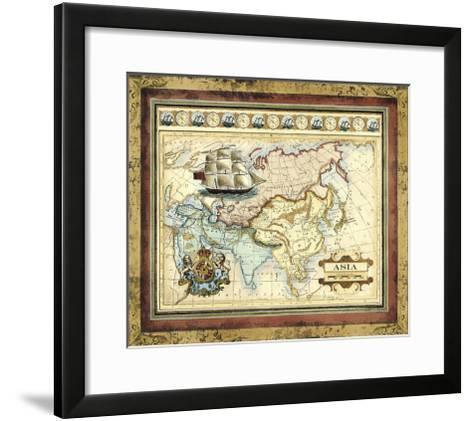 Map of Asia-Vision Studio-Framed Art Print