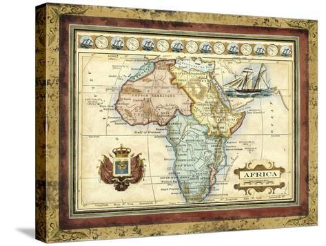 Map of Africa-Vision Studio-Stretched Canvas Print