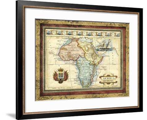 Map of Africa-Vision Studio-Framed Art Print