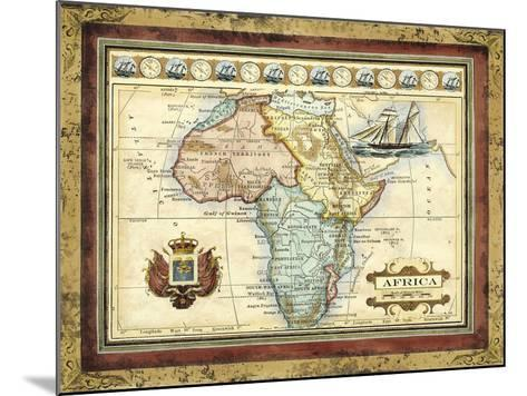 Map of Africa-Vision Studio-Mounted Art Print