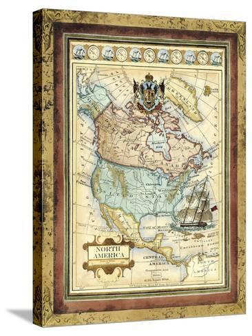 Map of North America-Vision Studio-Stretched Canvas Print