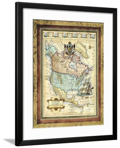Map of North America-Vision Studio-Framed Art Print