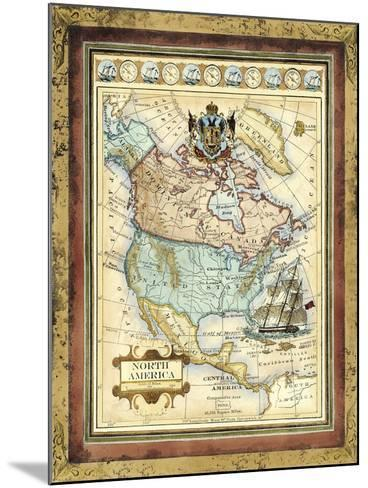 Map of North America-Vision Studio-Mounted Art Print