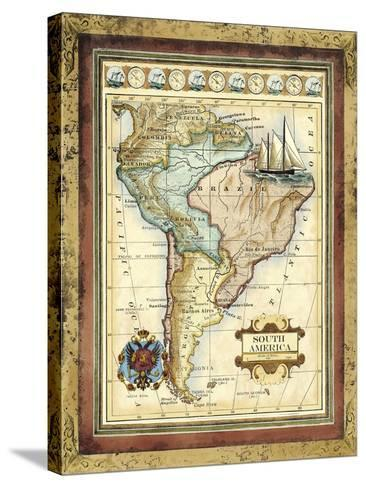 Map of South America-Vision Studio-Stretched Canvas Print