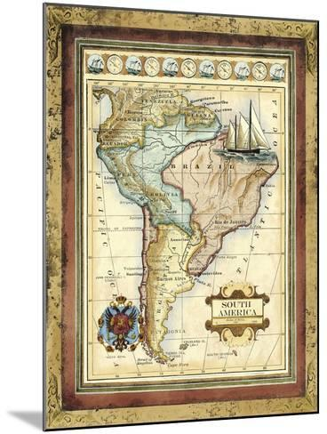 Map of South America-Vision Studio-Mounted Art Print