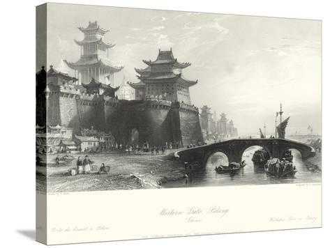 Western Gate, Peking-T^ Allom-Stretched Canvas Print