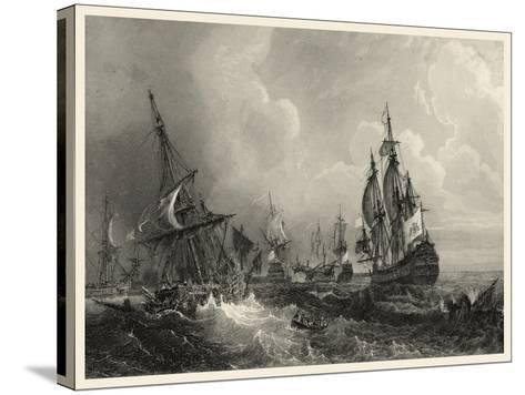 Small Ships at Sea II--Stretched Canvas Print