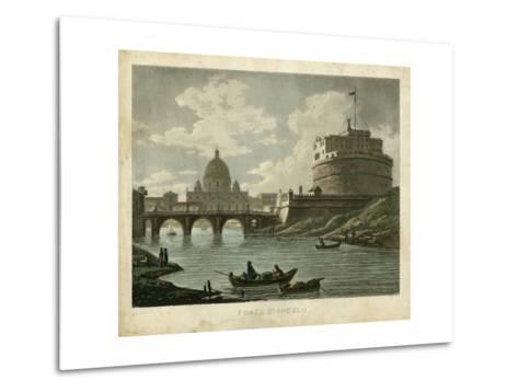 Ponte St. Angelo-Merigot-Metal Print