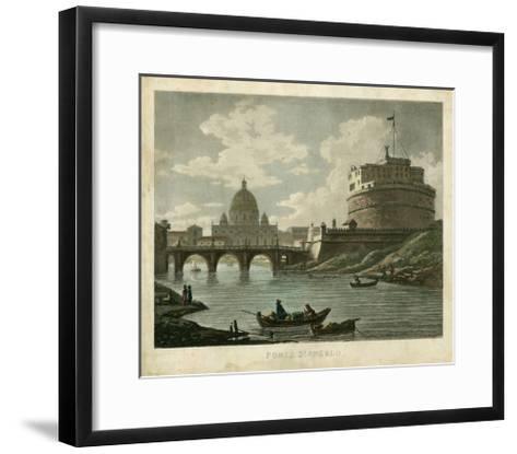 Ponte St. Angelo-Merigot-Framed Art Print