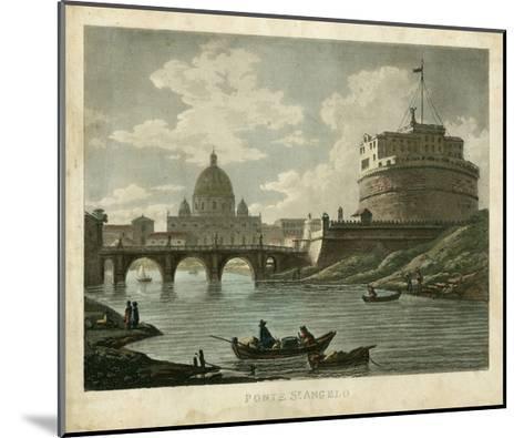 Ponte St. Angelo-Merigot-Mounted Art Print