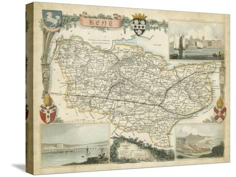 Map of Kent--Stretched Canvas Print