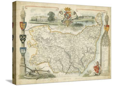 Map of Suffolk--Stretched Canvas Print