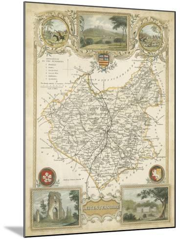 Map of Leicestershire--Mounted Art Print