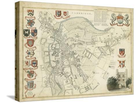 Map of Cambridge--Stretched Canvas Print