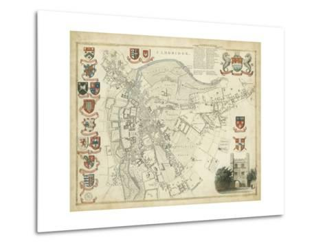 Map of Cambridge--Metal Print