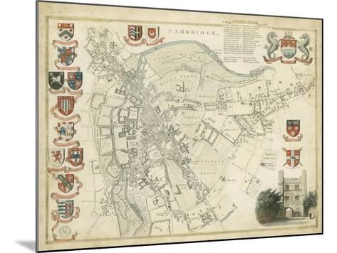 Map of Cambridge--Mounted Art Print