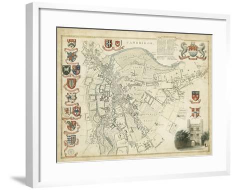 Map of Cambridge--Framed Art Print