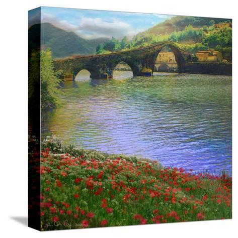 River Bridge-Chris Vest-Stretched Canvas Print