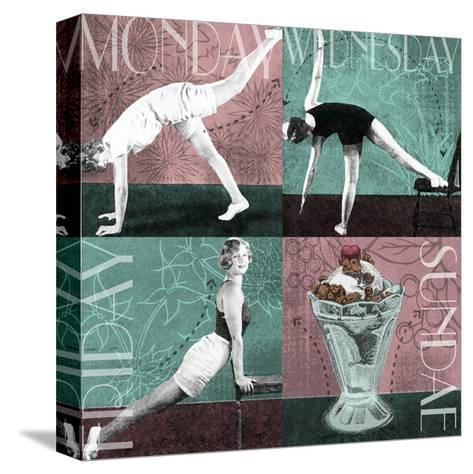 Weekly Workout I--Stretched Canvas Print